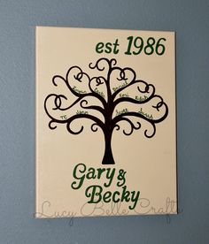 100% Hand Painted Family Tree by Lucy Belle Crafts on Etsy