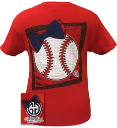 girlie girl originals preppy softball big bow sports bright t shirt big bows bright and originals - Baseball T Shirt Designs Ideas