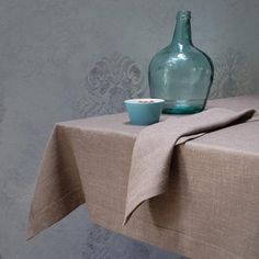 Ecofriendly, natural tablecloth. Combination of linen and polyester bring us to this amazing, massive but also soft Coffee and Milk colored tablecloth. Designed and (hand)made with love by JakSen.  Linen is known as the strongest natural textile so you can be sure that you'll buy something really long-standing. It is a perfect hypoallergenic fibre, ideal not only for children.  Size: 240/140 cm and about 95/55 inches  We can make untypical size for you according to your own, special wish…