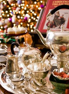 What could be more timeless than a gorgeous silver tea service?
