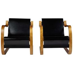 Armchairs Designed by Alvar Aalto for Artek, Finland, 1940s | From a unique collection of antique and modern armchairs at https://www.1stdibs.com/furniture/seating/armchairs/