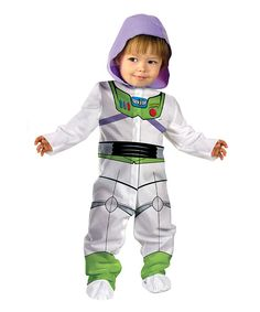 Take a look at this White & Green Buzz Light Year Dress Up Set - Infant on zulily today!