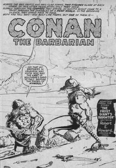 Conan, The Frost Giant's Daughter by Barry Windsor Smith