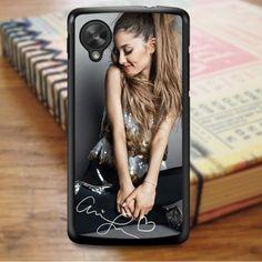 Ariana Grande Smile Cute Signature Nexus 5 Case Nexus 5 Case, Ariana Grande, Sony, Smile, Laughing