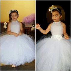 White Flower Girl Tutu Dress White Tutu by FunkidsandUsBoutique