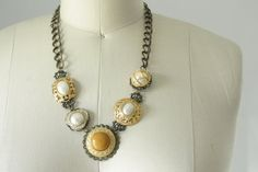 Vintage button necklace by SchoolofVintage on Etsy, $40.00