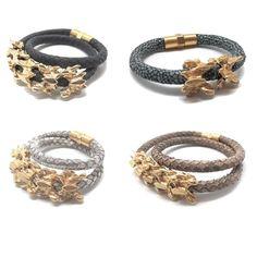 Vertebra leather bracelet buy online http://ift.tt/2oM0ddC #handmade #luxury #leather #bracelet #instagram #gold #summer #barcelona #ibiza