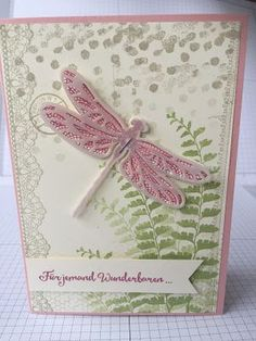 by Pia: Delicate Details (SAB 2017), Dragonfly Dreams, Butterfly Basics, Vellum, Detailed Dragonfly Thinlits - all from Stampin' Up!