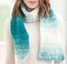 One Stitch Scarfie by Lion Brand Crochet Scarf Kit - None
