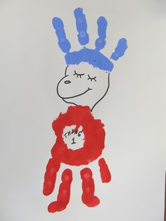 Thing 1 and 2 hand prints - would have been awesome for my Dr. Seuss bulletin board this year