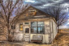 "Long-forgotten, the abandoned ""Truckton Store"" in El Paso County, TX"