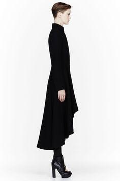Alexander McQueen Black Textured Drop-Tail Jacket (3)