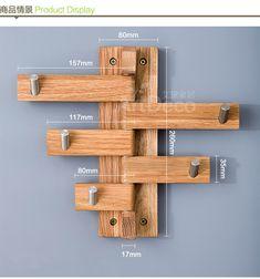 Criativo Gancho Da Parede cabide cabide de madeira Rotativo Forte Carteiras nastennaya Stan Keyes no Zhiwu parede rack de aço inoxidável