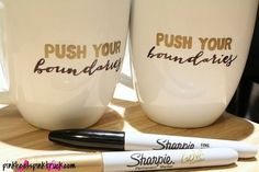 DIY Sharpie Mug Tutorial...learn how to create your own personalized coffee mug or tea cup!! These make great personalized gifts for friends and family!!