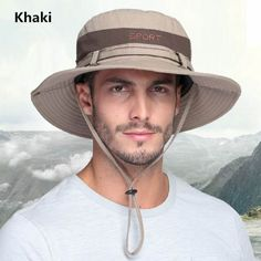 UV package Outdoor fishing hats for men sun bucket hat 927d3d63df7