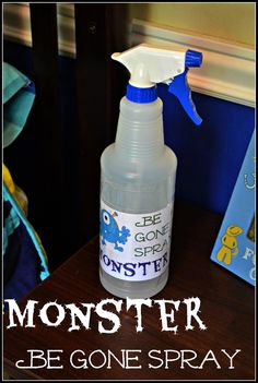 Monster Be Gone Spray for Spooky #Toddlers #DIY Monster Spray with Lavender Oil