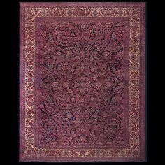 Sarouk Rug - 21894 | Persian Formal 10' 10'' x 13' 9'' | Navy, Origin Persia…