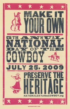 hatch show print wood type   ... the Cowboy :: Preserving Pioneer Heritage - NDOC Hatch Poster Series