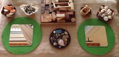 Exploring loose parts with mirrors - Nurtured Learning