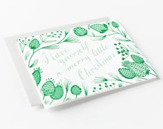 """""""Have Yourself a Merry Little Christmas"""" Holiday Card by Sycamore Street Press"""