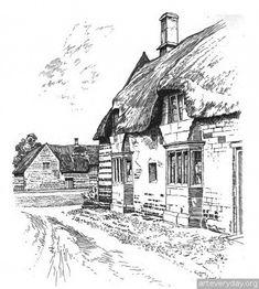 6 | Английская деревня начала XX века. Зарисовки | ARTeveryday.org
