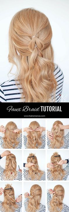 Side Faux Braid Tutorial | #hair #fashion #boho #Bohemian #gypsy #hippie #festival #wedding #bride #bridal #girl #faux #tutorial