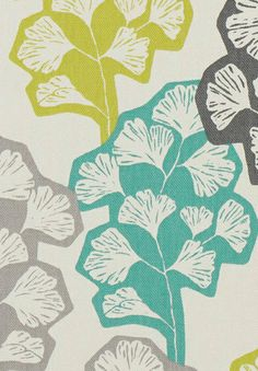 print & pattern these beautifully graphic gingko leaves are from the new villa nova collection called 'mariken'.