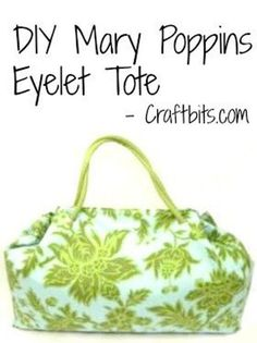 Mary Poppins Eyelet Tote - craftbits.com