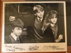 My very own signature from the Golden Trio. It's from 2002. ^_^