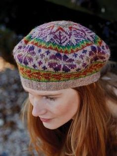 Chamomile Tam - Knit this accessory tam style hat from Windswept. A design by Marie Wallin using the gorgeous yarn Felted Tweed (wool,alpaca and viscose), t...