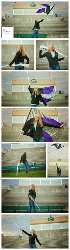 Anna Allen | Class of 2017 Senior | Color Guard Senior Pictures Poses | Flag Team Pose Ideas | Rifle | Saber | Marching Band | Laura C. Photography 2016