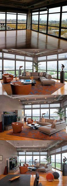 South Loop Chicago | Living Room | Maura Braun Interior Design, Inc.