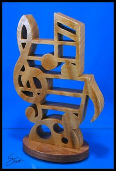 Musical Note Sculpture Scroll Saw Pattern.