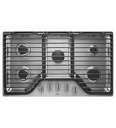 36 inch 5 Burner Gas Cooktop with EZ-2-Lift™ Hinged Cast-Iron Grates