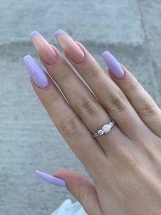 Purple Acrylic Nails, Acrylic Nails Coffin Short, Best Acrylic Nails, Purple Nails, Edgy Nails, Oval Nails, Stylish Nails, Wow Nails, Pretty Nails