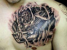 steampunk guage tattoo | broken skin tattoo 27 Incredible Steampunk Tattoo Idea Collection