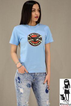 Γυναικείο t-shirt Emily Strange Cat Emily Strange, T Shirts For Women, Cats, Fashion, Moda, Gatos, Fashion Styles, Cat, Kitty