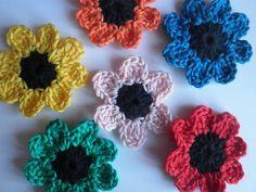 HaakZaken: En alweer een gehaakt bloemetje (met patroon)