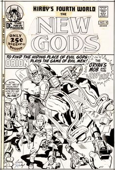 Original Comic Art:Covers, Jack Kirby and Vince Colletta New Gods Image #1
