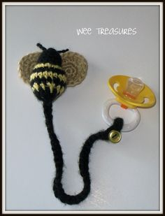 Crochet Pacifier Holder by weetreasures2 on Etsy, $6.00