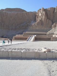 The Temple of Deir El-Bahri is one of the most characteristic temples in the whole of Egypt