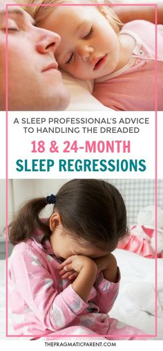 Tips from a sleep professional: how to handle the 18-month sleep regression and 2-year sleep regression without losing your mind. Advice about naps, bedtime, and milestones to consider which affect these sleep regressions.  via @https://www.pinterest.com/PragmaticParent/