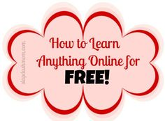 How To Learn ANYTHING Online For Free - HUGE list