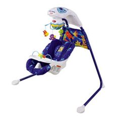 This was a lifesaver when she was a baby....Watching the fish would calm her down and the motion would put her to sleep!