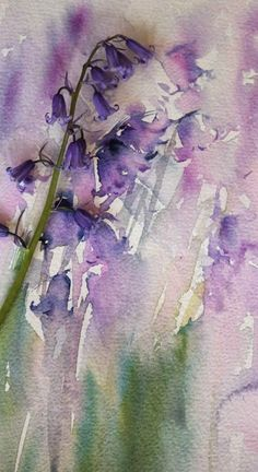 Bluebell Hues Original Watercolour by Jean Haines