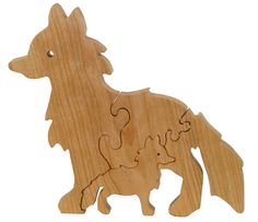 Fox Puzzle Wood Baby Fox Eco Friendly and Green for Toddlers and Children