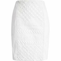 White embossed leather skirt $240.00