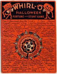 gravesandghouls: Halloween party game c. 1950's