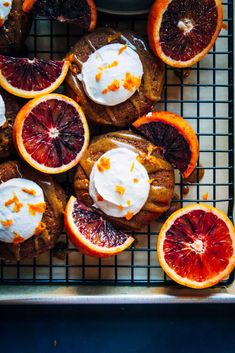 These Earl Grey donuts are amazingly delicious with coconut whipped cream, almond butter caramel, and blood orange zest! Healthy and nutritious. // One Degree Organic Foods Vegan Donut Recipe, Vegan Doughnuts, Baked Doughnuts, Donut Recipes, Brunch Recipes, Dessert Recipes, Icing Recipes, Cod Recipes, Broccoli Recipes