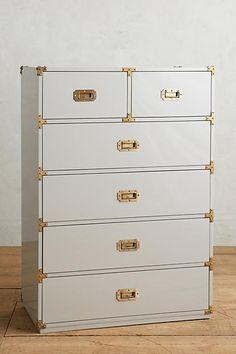 Lacquered Wellington Six-Drawer Dresser - anthropologie.com